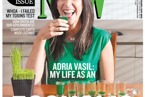 Adria on the cover of NOW