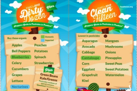 EWG's Dirty Dozen & Clean 15