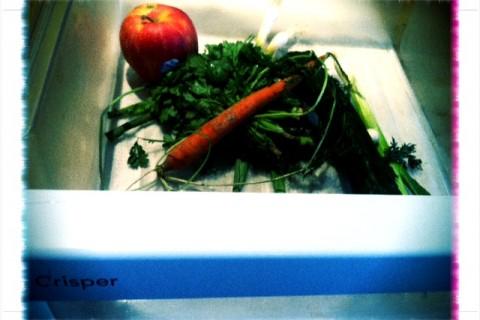"Wilting produce in the so-called ""crisper"""