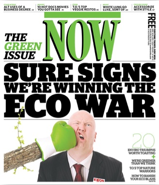 NOW's Green Issue Cover