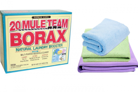 Borax and cloths