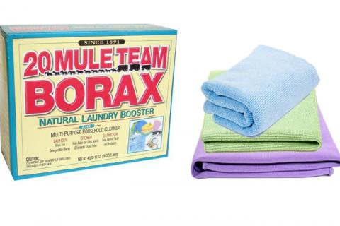 Borax and cloths