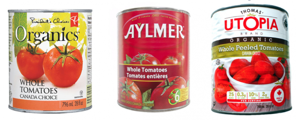 Canned tomatoes